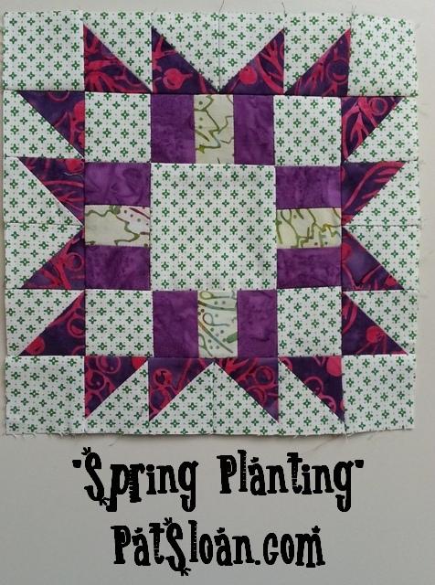 Pat Sloan Free Spring Planting block