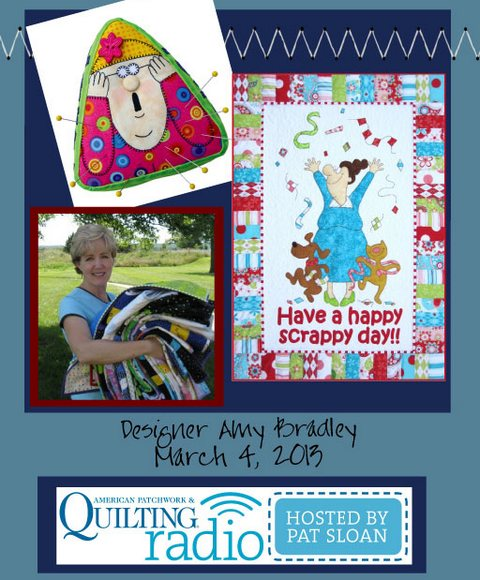 Pat Sloan American Patchwork and Quilting radio Amy Bradley guest