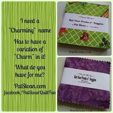 Pat Sloan Charm Pack naming