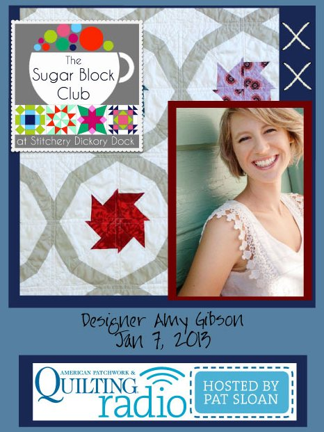Pat Sloan American Patchwork and Quilting radio Amy Gibson guest