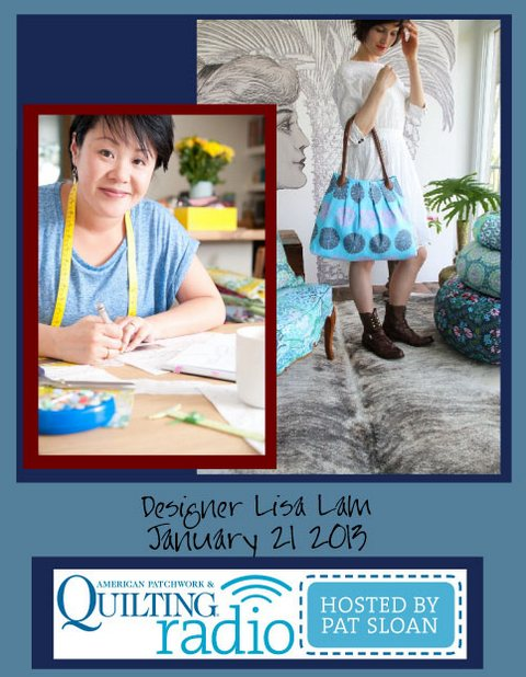 Pat Sloan American Patchwork and Quilting radio Lisa Lam guest