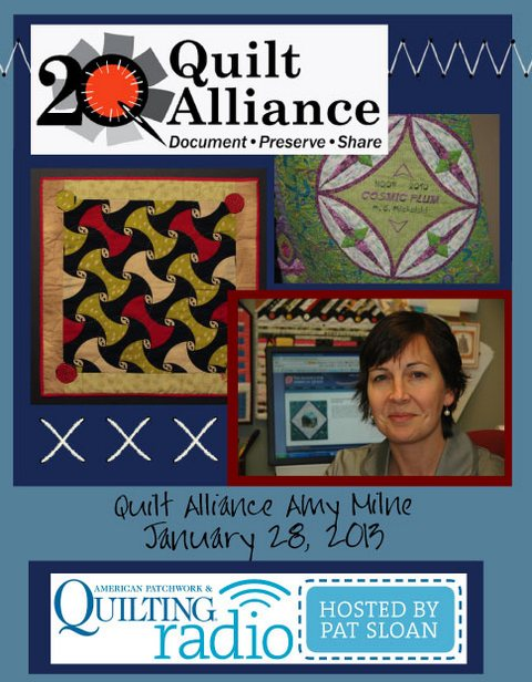 Pat Sloan American Patchwork and Quilting radio Amy Milne guest