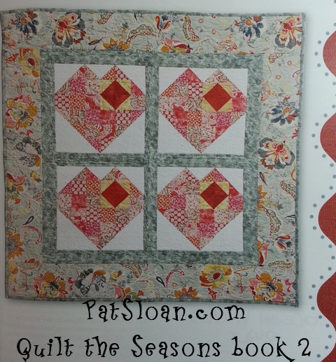 Pat Sloan quilt the seasons book two hearts