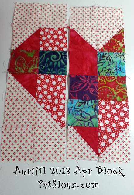 Pat sloan aurifil apr block 4