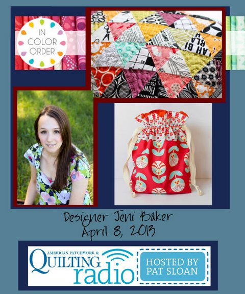 Pat Sloan American Patchwork and Quilting radio Jeni Baker guest
