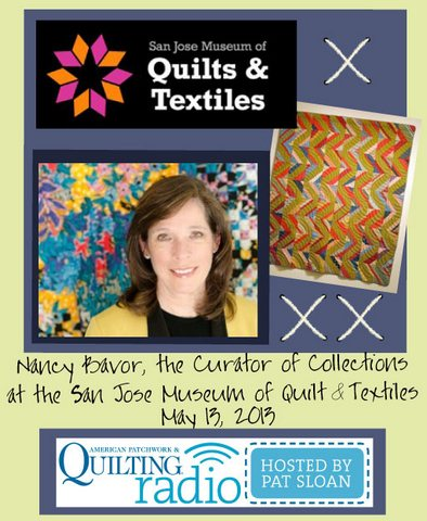 Pat Sloan American Patchwork and Quilting radio Nancy Bavor guest