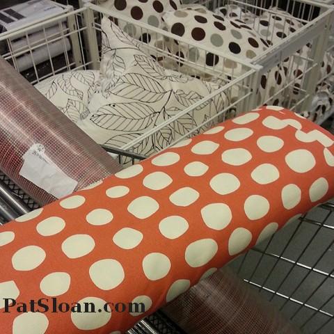 Pat sloan orange polka dots