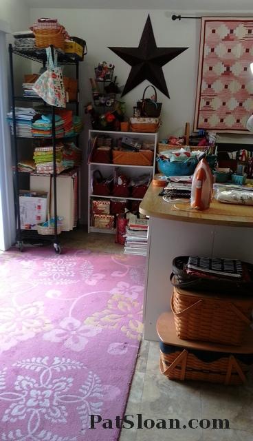 Pat Sloan Studio rug before