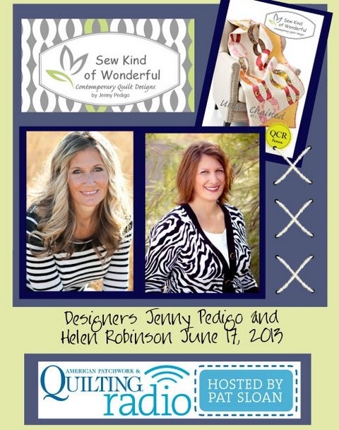 Pat Sloan American Patchwork and Quilting radio Sew Kind of Wonderful guest