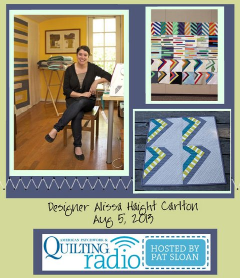 Pat Sloan American Patchwork and Quilting radio Alissa Haight Carlton Aug guest