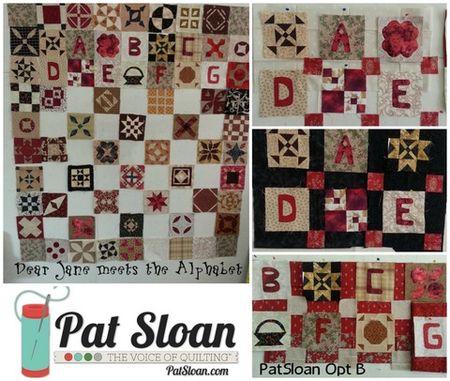 Pat sloan alphabet sashing selection 1