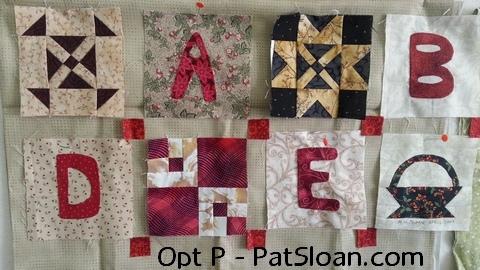 Pat sloan option p alphabet