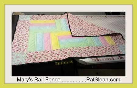 Mary RAIL QUILT Pat Sloan Design for Chasity's baby (2)