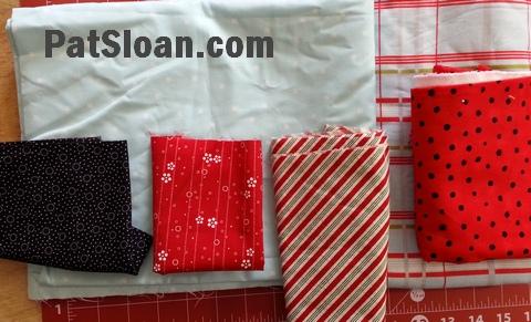 Pat sloan pillow case fabric audition 2