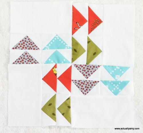 Flying geese blocks