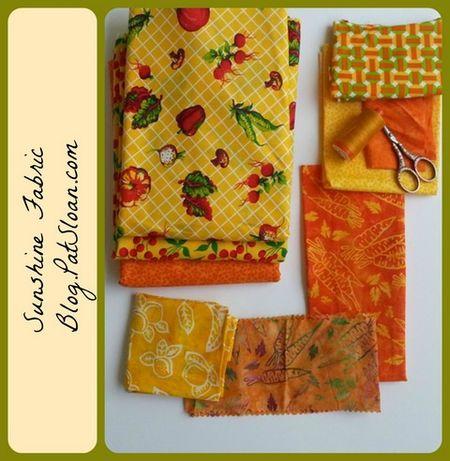 1 pat sloan yellow sunshine fabric button