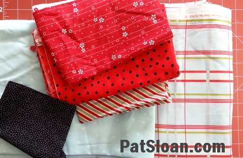 Pat sloan pillow case fabric audition 1