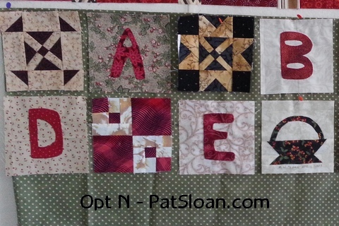 Pat sloan option n alphabet