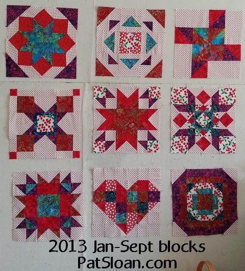 Pat sloan jan to sept 2013 aurfil blocks