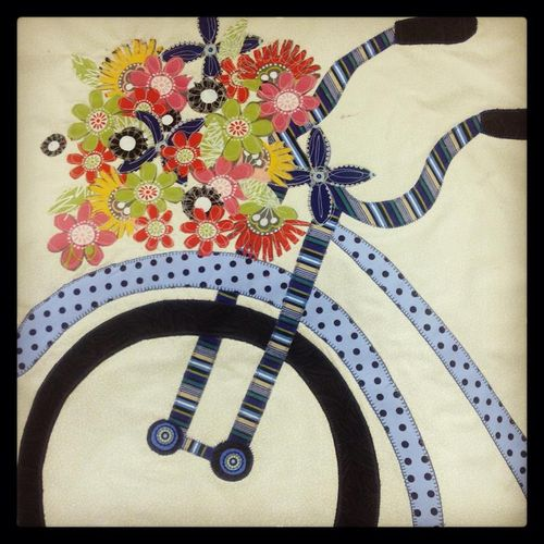 Patti made this bike block from my pattern.. she cut out all the ...