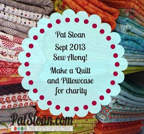 Pat sloan charity sew along