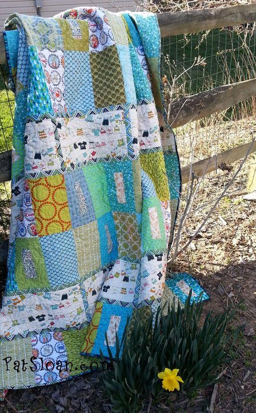 Pat sloan beach fabric quilt 12