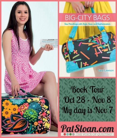 Pat sloan big city bag tour button
