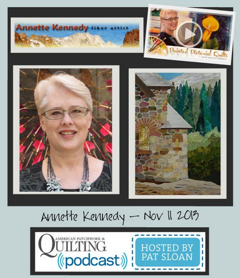 Pat Sloan American Patchwork and Quilting radio Annette Kennedy Nov guest
