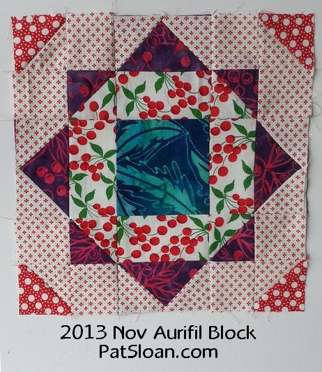 Pat Sloan Nov 2013 Aurifil Block