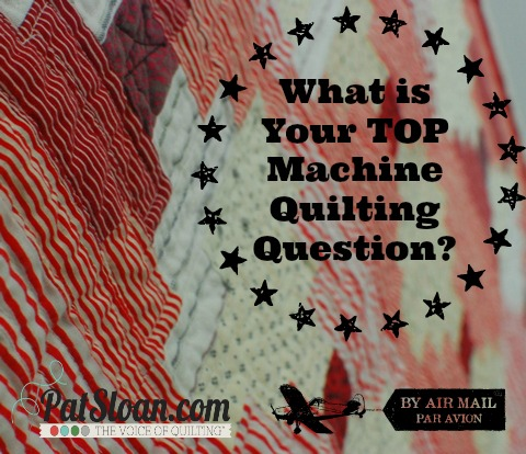 Pat sloan machine quilting questions