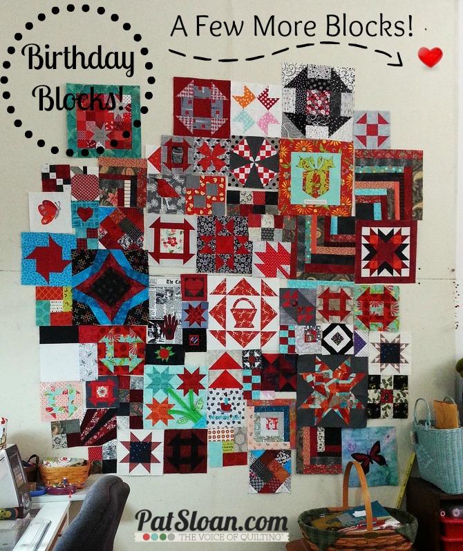Pat Sloan Birthday Blocks arranged 11 27 13