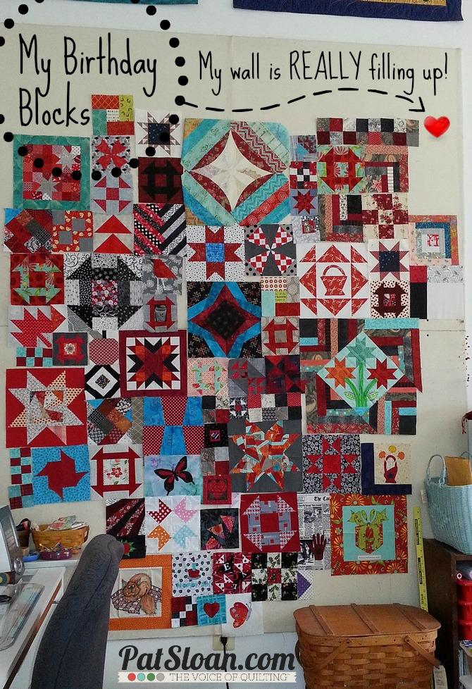 Pat Sloan Birthday Blocks arranged 11 30 13