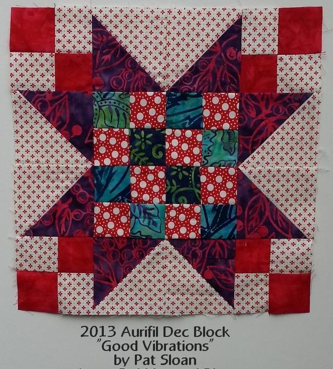 Pat sloan dec 2013 aurifil block my fabric