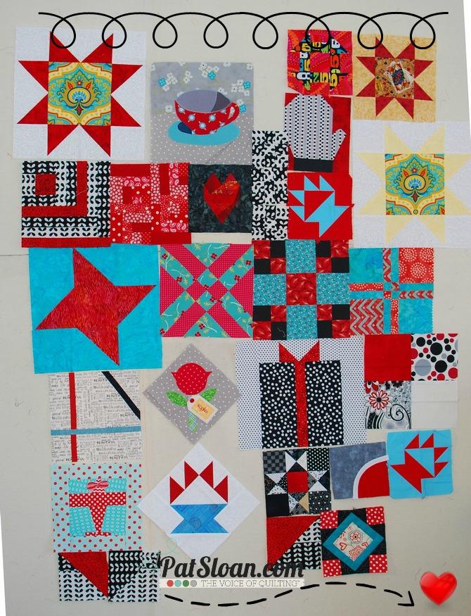 Pat Sloan Birthday Blocks arranged 12 10 13
