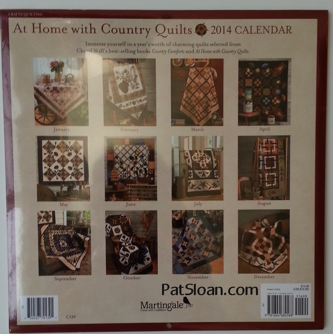 Pat Sloan Quilt Calendar 4