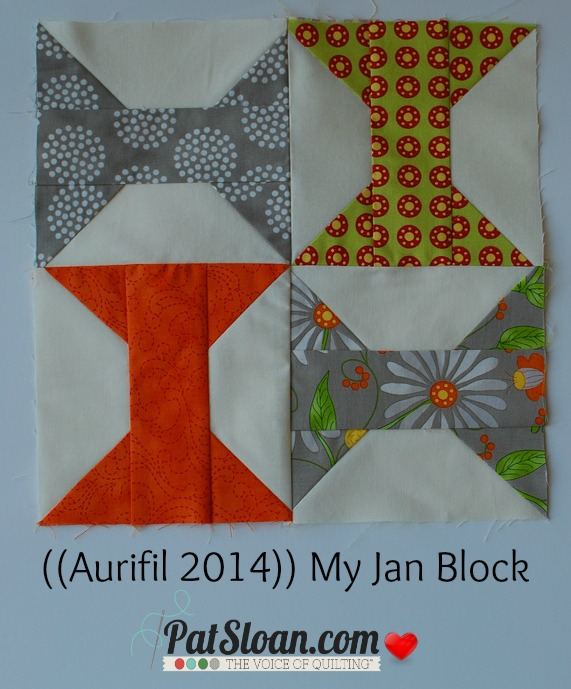 Pat sloan 2014 jan aurifil block
