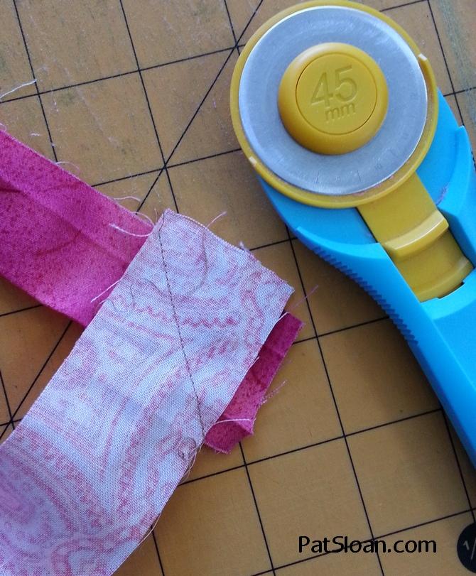 Pat Sloan How to Make Scrappy Quilt Binding 6b