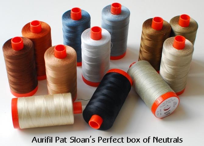 Pat Sloan Perfect Neutrals Aurifil Thread