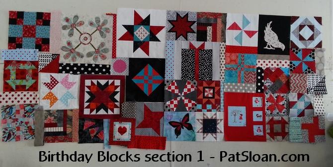 Pat Sloan Section 1 birthday blocks