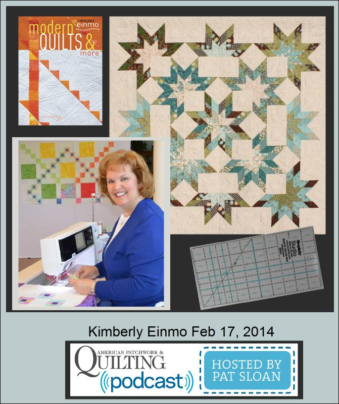 Pat Sloan American patchwork and Quilting Kimberly Einmo Guest Button