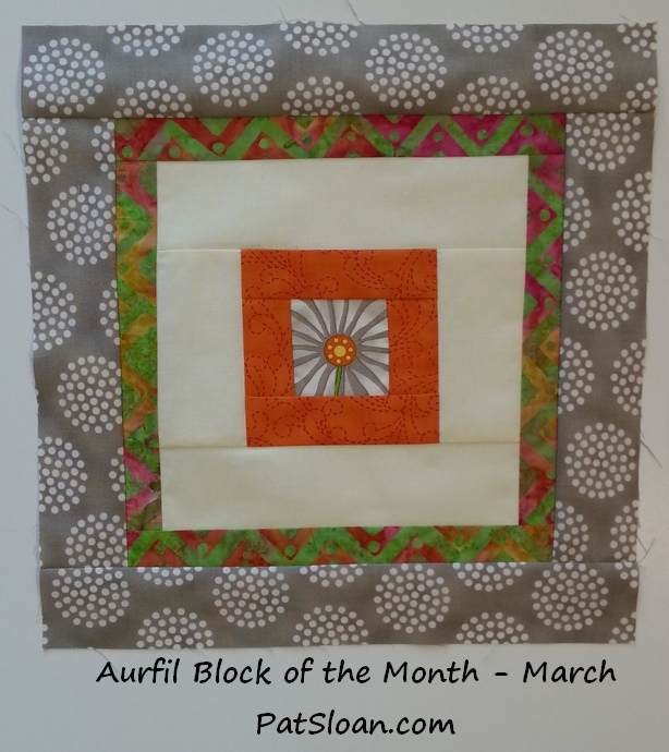 Pat sloan 2014 mar aurifil block single