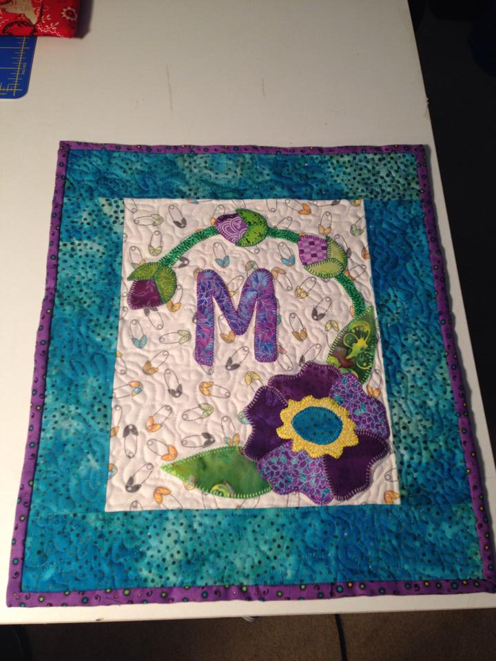 Michelle made a M quilt