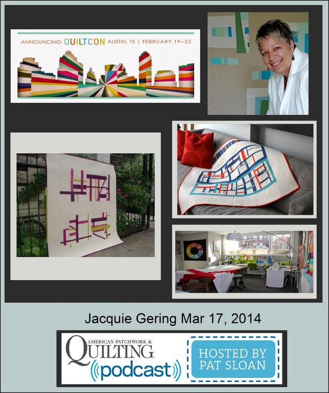 Pat Sloan American Patchwork and Quilting radio Jacquie Gering  guest