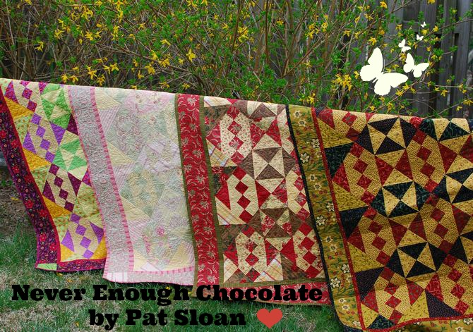 Pat Sloan Never enough Chocolate quilt variations