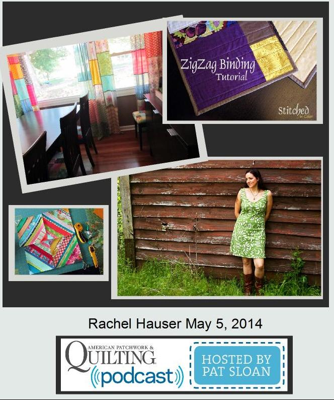 Pat Sloan American Patchwork and Quilting radio Rachel Hauser guest
