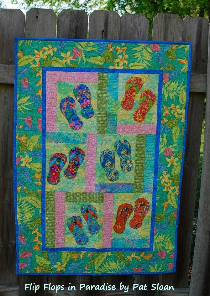 Pat sloan flip flops in Paradise 1
