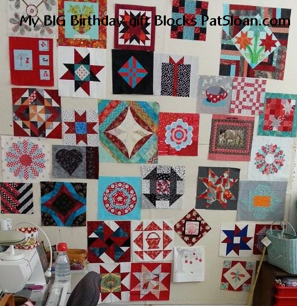 Pat Sloan How To Sew Together Random Size Quilt Blocks Pat