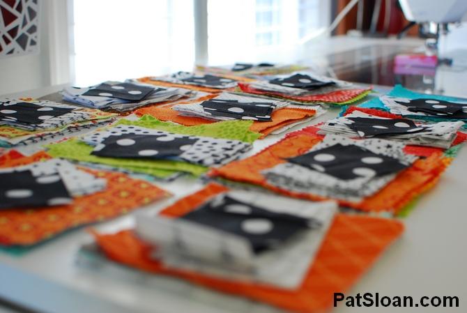 Pat sloan scrap busting sew along progress 1