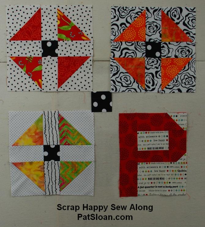 Pat sloan scrap busting sew along progress 6