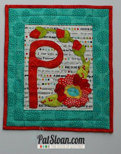 Pat sloan letter P pattern